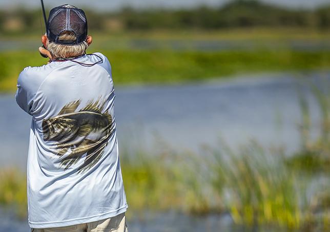 lifestyle image of man fishing