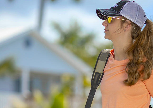 lifestyle image of woman in Paramount Outdoors cap