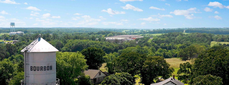 birds eye view of Bourbon, MO