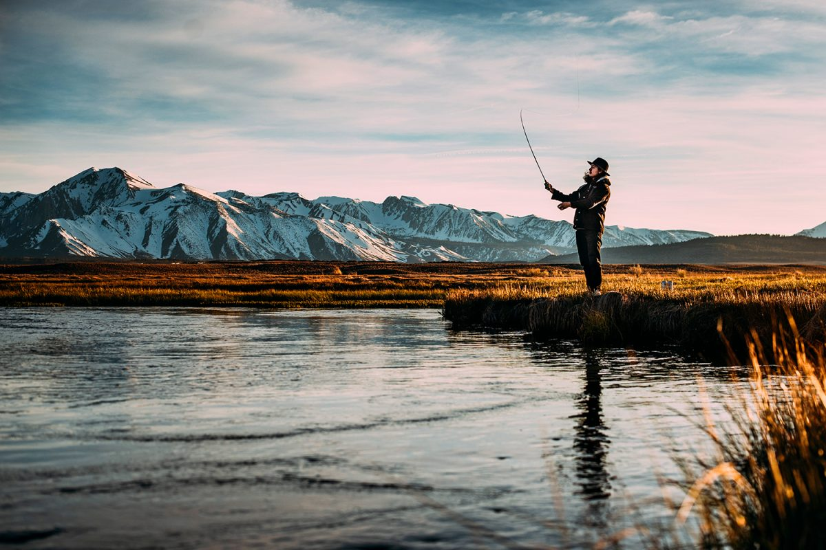 Fly fisherman for Contact Us header