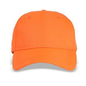 blaze orange baseball cap front