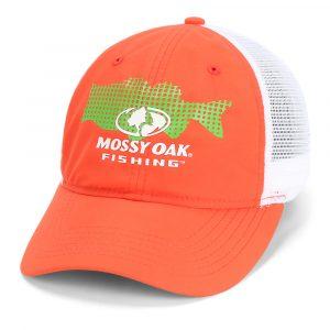 Mossy Oak Fishing Cap Red Largemouth Bass