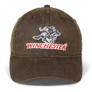 Winchester Waxed Cloth Cap Horse and Rider Logo