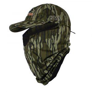 Mossy Oak Bottomland Face Cover Camo Cap